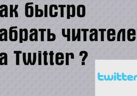 Как быстро и бесплатно получить читателей вашего Twitter